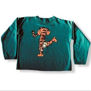 DISNEY TOON Tigger Green Youth Large Sweatshirt